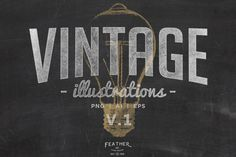 (Vector) Vintage Illustrations V.1 by Feather & Sage Design Co on @creativemarket