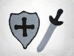 Sword and shield CROCHET PATTERN  Great photo by PatternStudio1, $2.99