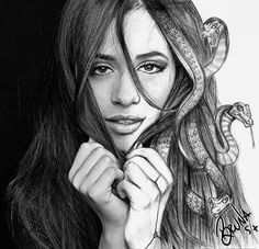 Camila Cabello Fashion Art, Fashion Beauty, Camila And Lauren, Celebrity Drawings, Fifth Harmony, Art Sketchbook, Beauty Photography, Lovers Art, Her Style