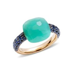 "Pomellato Chrysoprase & Sapphire ""Capri"" Ring"
