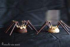 hacer Arañas de Halloween