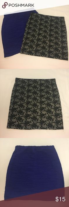 Mini Skirt Bundle Forever 21 Bodycon skirts. Both in excellent condition only worn once each, no holes, pulls or stains. They both have a lining inside. Forever 21 Skirts Mini