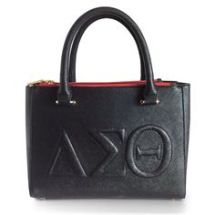 Delta Sigma Theta Satchel - Classic Handbag Greek Symbol Purse Elegant DST Style in traditional bag top handle satchel tote PRE-ORDER for Shipping 10/1/15 Don'