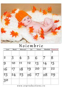Calendar luna Octombrie cu tema toamna.