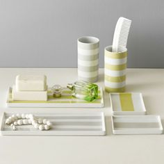 west elm Porcelain Stripe Trays on shopstyle.com