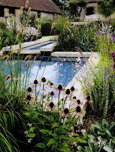 Garden at Woolbeding House in Sussex, designed by Isabel & Julian Bannerman. HG UK September 2012