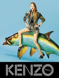 Kenzo fashion advert.