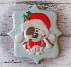 Christmas Puppy Cookie by Emma's Sweets | Cookie Connection