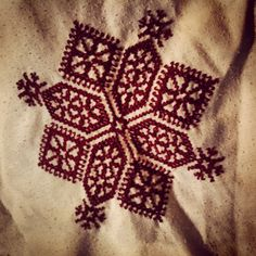 traditional Moroccan Fesi embroidery creation.