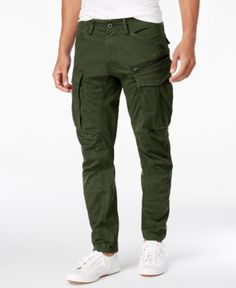 G-Star Raw Men's Rovic Straight Tapered Fit Cargo Pants - Dk Bronze Cargo Pants Outfit Men, Best Cargo Pants, Green Cargo Pants, Green Pants Men, Slim Fit Cargo Pants, G Star Raw, Best Casual Wear For Men, Mens Cargo, Moda Casual