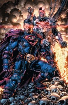 Potential Dark Nights: Metal # 3 spoiler - Superman and the League could get new armors based on variant cover by David Finch. Batman Dark, Batman And Superman, Batman Metal, Superman Symbol, Superman Stuff, Superman Family, Spiderman, Mundo Superman, Dark Knights Metal