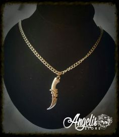 Fantasy Dagger Necklace Fantasy Dagger, Random Stuff, Gold Necklace, Necklaces, Stuff To Buy, Jewelry, Random Things, Gold Pendant Necklace, Jewlery