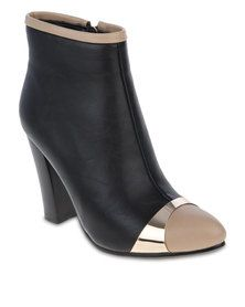 Zoom Bianca Ankle Boots - Black/Tan