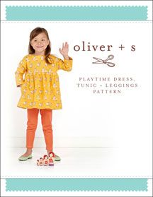 playtime dress, tunic + leggings sewing pattern: my girls prefer to live in knit dresses and leggings...this would be the only pattern I would ever need...
