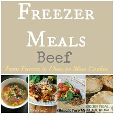17 Beef Freezer Meals using your Slow Cooker or Oven cooking guide Beef Freezer Meals, Freezer Friendly Meals, Freezer Cooking, Crock Pot Cooking, Cooking Tips, Cooking Recipes, Bulk Cooking, Cooking Photos, Oven Cooking