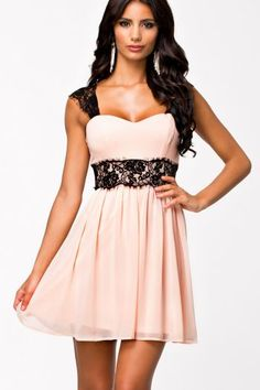 Purchase Women Summer Sexy Low-Cut Radiant Patchwork Strapless Lace Embellished Skater Dress Vestidos (Color: Pink) from on OpenSky. Sexy Lace Dress, Chiffon Dress, Sexy Dresses, Cute Dresses, Strapless Dress Formal, Short Dresses, Lace Chiffon, Pink Dress, Ruffled Dresses