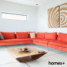 Extra Long Sofa - As a rule, the standard length of a sofa usually does not exceed 210 centimeters, enough space to comfortably accommodate three people Long Sofa, Contemporary Style Homes, Small Sofa, House And Home Magazine, Room Set, Design Model, Interior Inspiration, Modern Design, Furniture Design