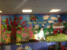 This lovely display relates to the nursery rhyme Old McDonald had a farm.