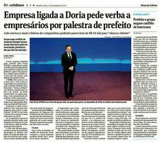 Empresa de João Dória pede dinheiro a empresários por palestra do tucano. Ah! Se fosse Lula