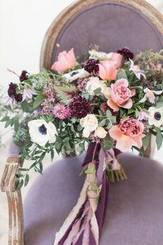 lilac purple bouquet, purple wedding inspiration   camille catherine photography