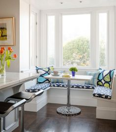 Breakfast Nook Cushions And How To Choose The Best : Breakfast Nook Bench Cushions. breakfast nook cushions diy,kitchen nook with cushions,red breakfast nook cushions Kitchen Benches, Window Seat Kitchen, Modern Breakfast Nook, Home, Interior, Small Breakfast Nooks, Nook Bench, Dining Nook, Home Decor