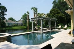 Sunscapes, Landscape Design, Inc. - pergola by the pool