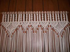 Curtain in Macrame Bead Fringed Door Curtain With Tie-Backs