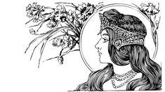 Art nouveau woman by e-designer.deviantart.com on @DeviantArt