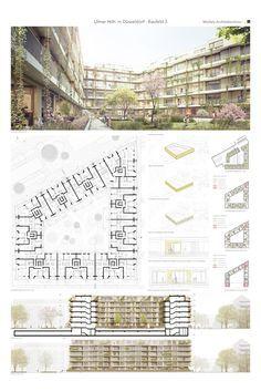 Minecraft Architecture, Architecture Board, Education Architecture, Islamic Architecture, Architecture Design, Presentation Board Design, Architecture Presentation Board, Residential Building Design, Residential Complex