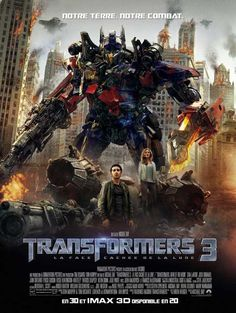 Transformers: Dark of the Moon (French) 27x40 Movie Poster (2011)