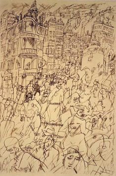 George Grosz: Strasse, Berlin (Courtesy of Richard Nagy London)