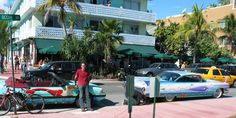 Next to Kenny Sharf's caddy on Ocean Drive during Art Basel 2006?.The 87 Mermaid Mustang (R.I.P). Art Car. By Miami Artist Gerry Stecca. www.GerryStecca.com