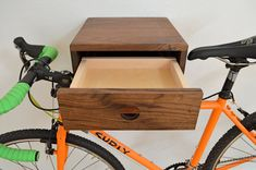 The Clifton Bike Rack Stylish wall mount by KenichiWoodworking