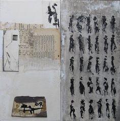 Images écrites & marche noire  Mixtes sur toile 2011