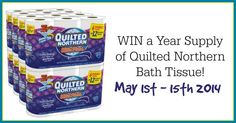 WIN a Year Supply of Quilted Northern Bath Tissue! - Thrifty Nifty Mommy