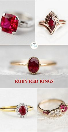 Ruby Red Rings for the Wedding
