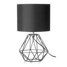 Geometric Table Lamp - Black