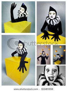 creepy looking mime or circus person (halloween costume inspiration)