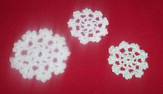Snowflake and More - Make these snowflakes for your Christmas tree or to give as gifts. ~ free pattern