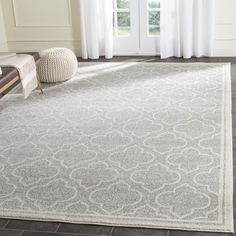 Safavieh Amherst Light Grey/Ivory Outdoor Area Rug & Reviews | Wayfair