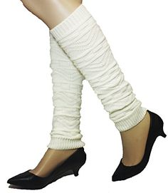 4square Women One Size Kreme Toreh Winter Knit Crochet Leg Warmers Leggings *** Want additional info? Click on the image.