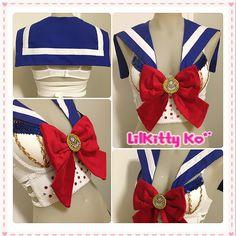 Custom Order for Erik C.  Sailor Moon Costume by lilkittyko, $100.00