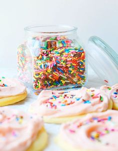 Giant Frosted Sugar Cookies!