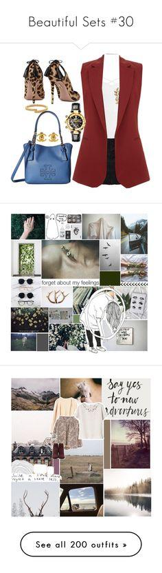 """Beautiful Sets #30"" by harleenquinzelx ❤ liked on Polyvore featuring Sans Souci, Theory, Vita Fede, Aquazzura, Tory Burch, Chanel, Versace, art, Prada and Miss Selfridge"