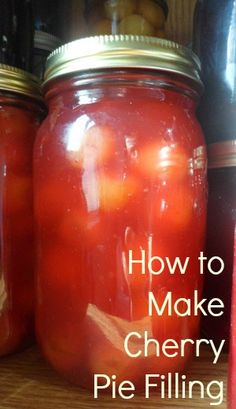 Easy Recipe For Making And Canning Homemade Cherry Pie Filling. Maybe Substitute Xantham Gum For Clear-Jel? Home Canning Recipes, Canning Tips, Jam Recipes, Homemade Cherry Pies, Canning Cherry Pie Filling, Bing Cherries, Canned Cherries, Canned Food Storage, Cherry Recipes