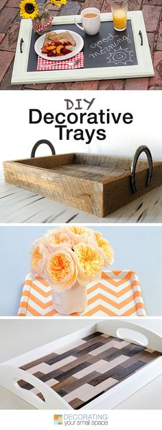 Diy Crafts Ideas : DIY Decorative Trays Tons of Ideas & Tutorials! Do It Yourself Furniture, Do It Yourself Projects, Diy Projects To Try, Diy Furniture, Craft Projects, Craft Ideas, Home Crafts, Fun Crafts, Diy Home Decor