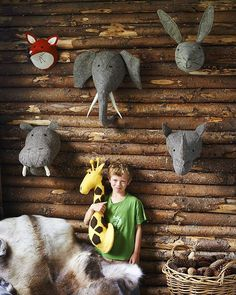 There's a bit of a grey theme going on in this cute log cabin picture! We love it