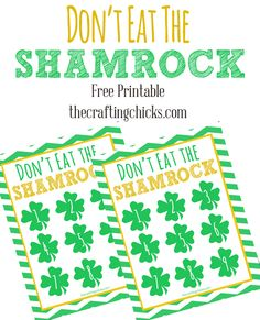 """Don't Eat the Shamrock!  St. Patrick's Day """"Don't Eat Pete"""""""