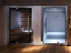 18 Trendy Home Gym Sauna House Sauna House, Sauna Room, House Bath, Saunas, Design Sauna, Bath Design, Deco Spa, Sauna Hammam, Sauna Kits