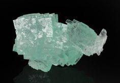Halite w/copper inclusions (fluorescent - new find) - Lubin, Lubin District, Legnica, Lower Silesia, Poland